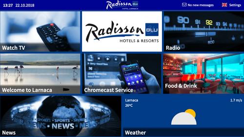 OTRUM AS | Airwave Europe installs Radisson Blu Larnaca with
